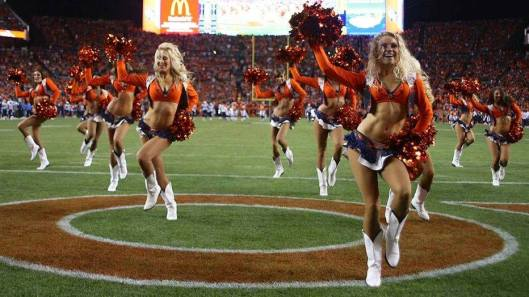 Denver cheerleaders had little to cheer about Sunday.