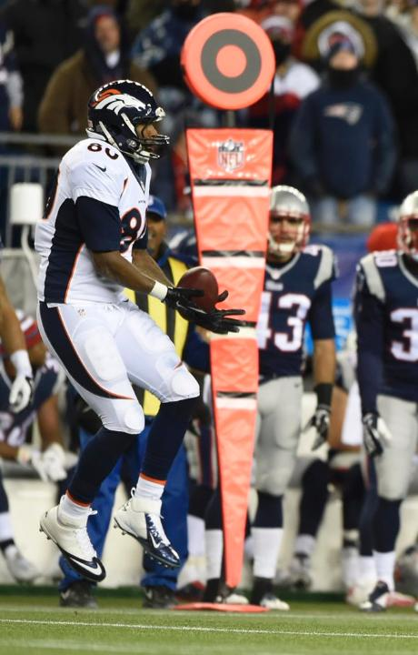 Bronco Julius Thomas scored a touchdown for Denver near the start of the third quarter Sunday. (Denver Broncos photo)