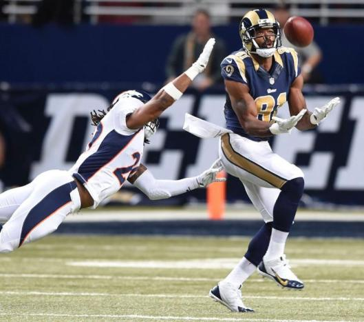 Rams wide receiver Kenny Britt scored the only St. Louis touchdown Sunday. (Denver Broncos photo)