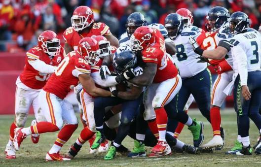 Seahawks star running back Marshawn Lynch faced the Chiefs defense Sunday. (Kansas City Chiefs photo)