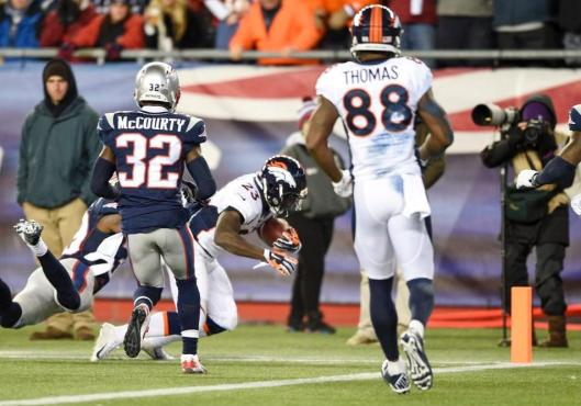 Bronco Ronnie Hillman scored two touchdowns for Denver Sunday. (Denver Broncos photo)