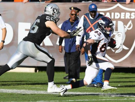 Broncos wide receiver Wes Welker runs with the ball.  (Denver Broncos photo)