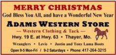 Adams Western Store - Christmas 1N