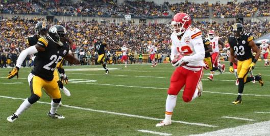 Chiefs rookie wide receiver Albert Wilson Sunday led Kansas City in receiving with five catches for 87 yards. (Kansas City Chiefs Photo)