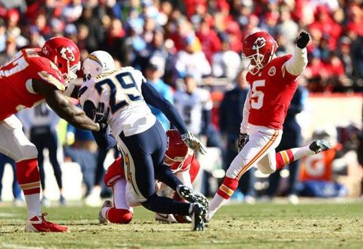 Chiefs rookie kicker Cairo Santos Sunday kicked four field goals and missed one. (Kansas City Chiefs photo)