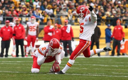 Rookie Chiefs kicker Cairo Santos Sunday scored all of Kansas City points with four field goals. (Kansas City Chiefs Photo)