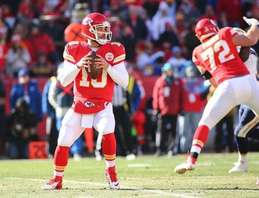 Chiefs backup quarterback Chase Daniel, a former Mizzou Tiger, led Kansas City to victory Sunday.  He threw 16 completed passes for 157 yards. (Kansas City Chiefs photo)