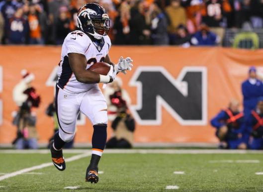 Bronco running back C.J. Anderson led Denver in rushing with 18 carries for 83 yards and one touchdown. (Denver Broncos photo)