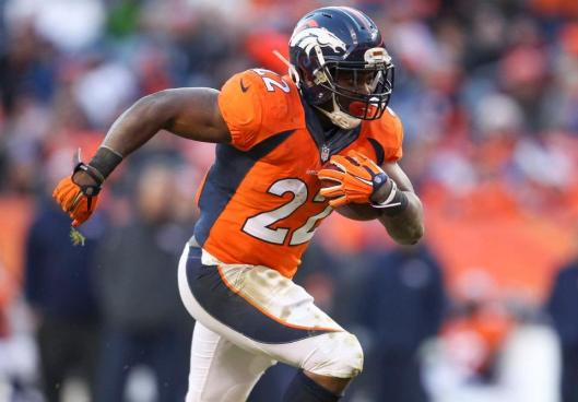 Bronco running back C.J. Anderson scored three touchdowns Sunday in the game against the Oakland Raiders. He led Denver in rushing Sunday with 13 carries for 87 yards. (Denver Broncos photo)