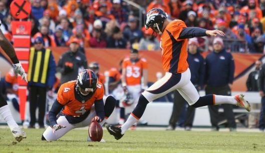 Bronco Connor Barth kicked four field goals Sunday.  (Denver Broncos photo)