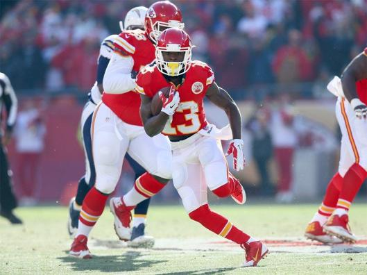 Kansas City's De'Anthony Thomas had a 41-yard punt return in the second quarter and a 23-yard gain in the fourth quarter. (Kansas City Chiefs photo)