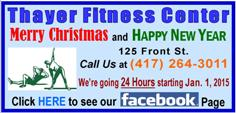 Thayer Fitness Center - Christmas