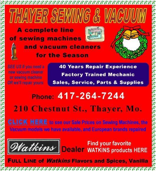 Thayer Sew & Vac 10