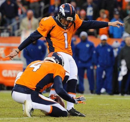 Connor Barth kicked two field goals for the Broncos Sunday. (Denver Broncos photo)