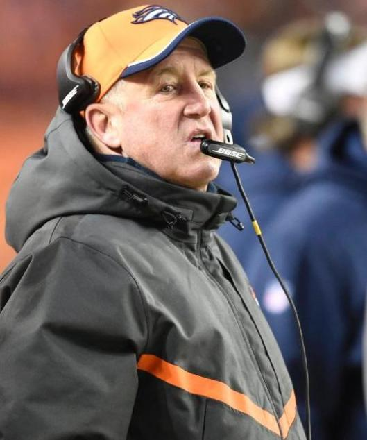 """After the Bronco's 24-12 loss to the Indianapolis Colts Sunday, Denver Head Coach John Fox and team management met Monday afternoon and after an hour announced that Fox would no longer be the Bronco's coach. It was a """"mutual agreement,"""" they said. (Denver Broncos photo)"""