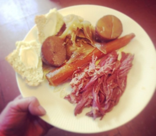 Corned beef and cabbage as served at Oregon County Food Producers and Artisans Co-op in Alton, Mo. (Facebook photo)