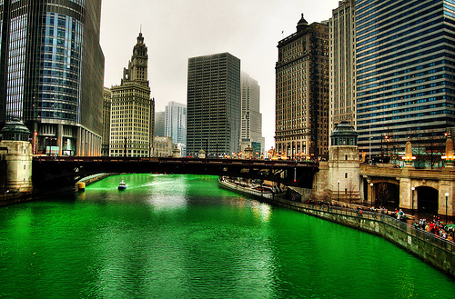 Green Chicago River (Tumblr photo)