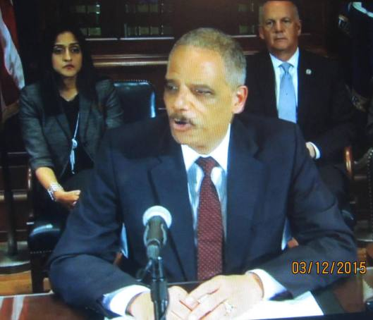 U.S. Attorney General Eric Holder gives his thoughts on the police shooting in Ferguson.