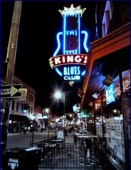 The Beale Street club at night