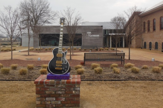 The BB King Museum in Indianola, Miss. King will be buried on the museum site. The building to the right is the former cotton gin where BB worked as a child