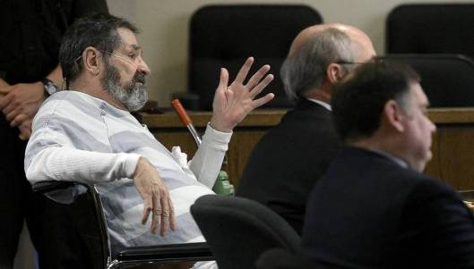 Frazier Glenn Miller/Cross at the hearing Thursday, May 14. (Pool photo by John Sleezer/Kansas City Star)