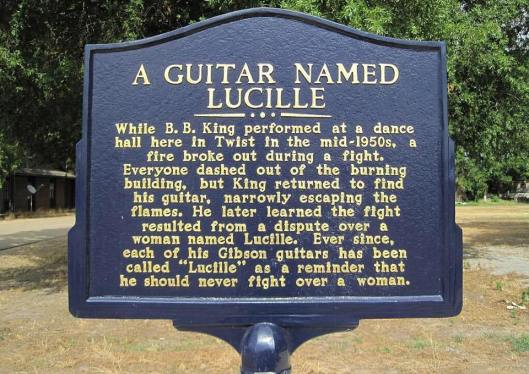 """BB named his guitar """"Lucille"""" after an incident in Twist, Ark. The song """"Lucille"""" has nothing to do with this incident."""