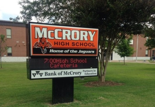 McCrory High School sign 2
