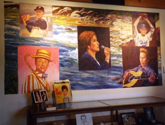 "West Plains ""Wall of Fame"" mural featuring Bill Virdon, Preacher Roe, Jan Howard, Dick Van Dyke and Porter Wagoner (Hill 'n Holler staff photo)"