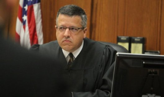 Judge J. Ronald Carrier presided over the arraignment of Gypsy Blancharde Monday. (Photo by Chase Snider/Pool-KTTS News)