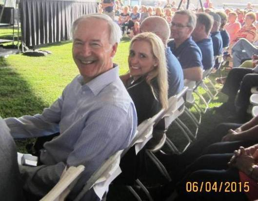Arkansas Governor Asa Hutchinson and Arkansas Attorney General Leslie Rutledge were in the audience. (Staff photo by Caroll Lucas)