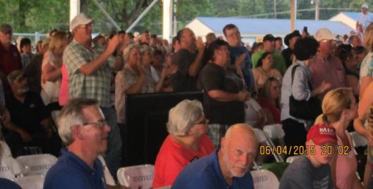 The crowd enjoys listening to Sawyer Brown. (Staff photo by Caroll Lucas)