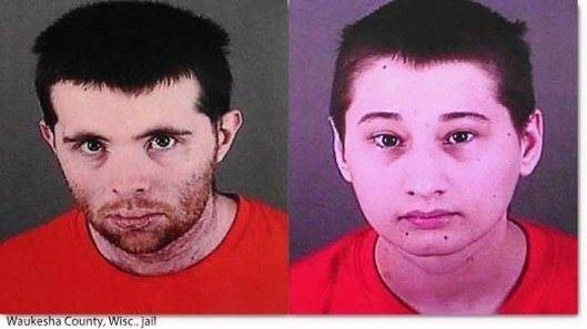 Nicholas Godejohn (left) and Gypsy Blancharde (right) were apprehended by Waukesha County Sheriff's police Monday after two Facebook posts linked them to a location in Big Bend, Wis. Greene County, Mo., authorities have charged both with the first degree murder of Gypsy's mother, Dee Dee Blancharde, 48.
