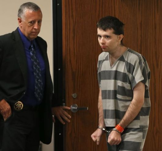 Nicholas Godejohn enters the courtroom for his arraignment. (Pool photo - Nathan Papes/Springfield News-Leader)