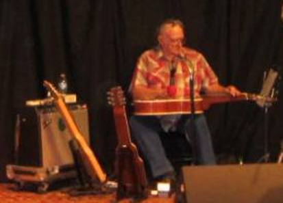 Roy Fuller playing Dobro with Country Fied  (Hill 'n Holler staff photo)