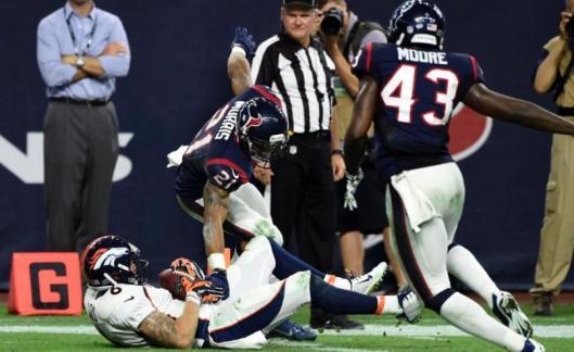 Corbin Louks scored the winning touchdown for the Broncos Saturday. (Denver Broncos photo)