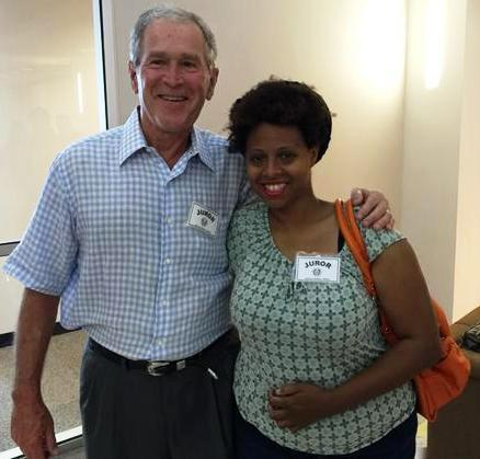 George W. Bush and Desiree Bryant  (Twitter photo)