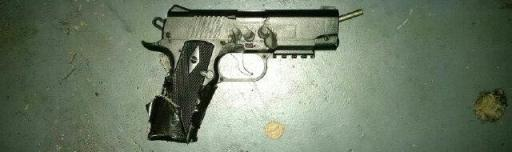 The pellet gun carried by Vincente Montano at a movie theater in Antioch, Tenn.