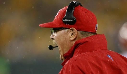 Chiefs Head Coach Andy Reid was not happy Monday night. (Kansas City Chiefs photo)