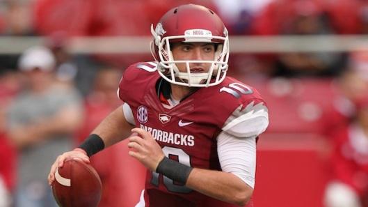 Quarterback Brandon Allen led the Razorbacks to victory Saturday.