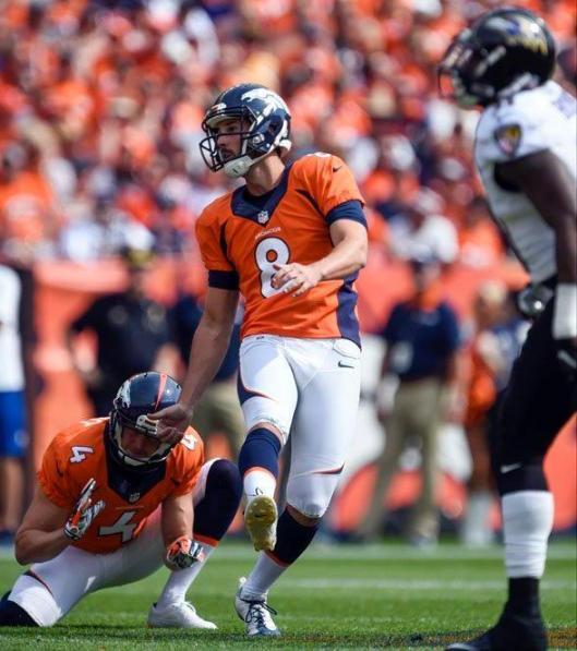 Brandon McManus kicks a field goal. (Denver Broncos photo)