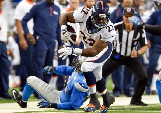 Broncos running back C.J. Anderson carries the ball. (Denver Broncos photo)