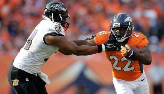 C.J. Anderson runs with the ball. (Denver Broncos photo)