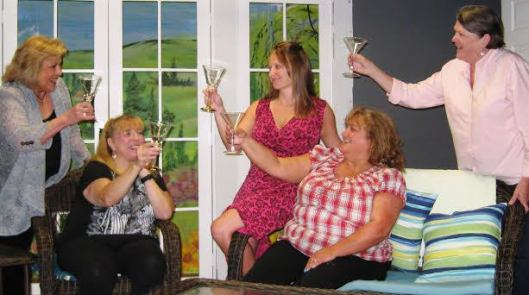 Members of the Dixie Swim Club from left are, from left, Debby Stanuch, Patty Kotlicky, Angie Cotter, Karen McKaig and Cindy Young. The comedy opens at the Twin Lakes Playhouse in Mountain Home Friday Sept. 11 and runs weekends thru Sept. 27.  (Photo provided)