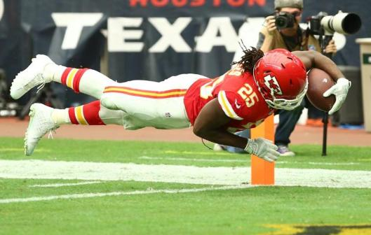 Chiefs running back Jamaal Charles scored a touchdown Sunday. (Kansas City Chiefs photo)