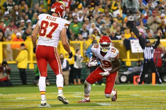 Chiefs wide receiver Jeremy Maclin socred a touchdown near the end of the third quarter Monday night.  (Kansas City Chiefs photo)