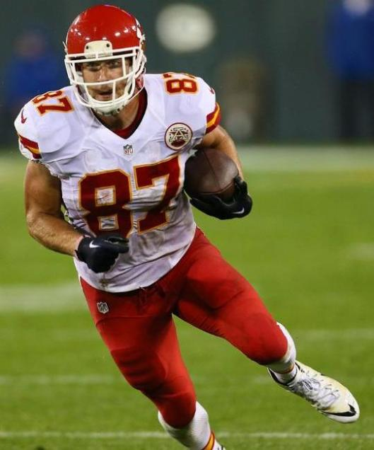 Chiefs tight end Travis Kelce caught a 38-yard pass Monday night.  (Kansas City Chiefs photo)