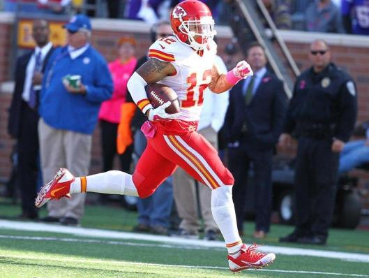 Chiefs wide receiver  Albert Wilson scored Kansas City's only touchdown Sunday with a 42-yard run. (Kansas City Chiefs photo)