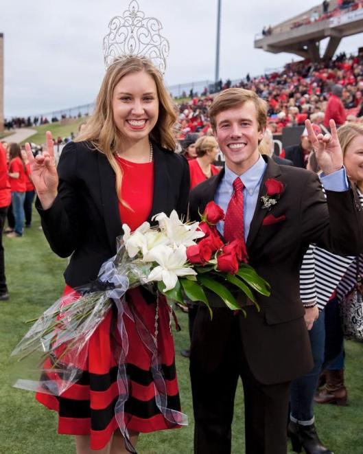 ASU Homecoming Queen Kaily Nix and King Jonathan Freeman were crowned Saturday before the game. (ASU Photo)