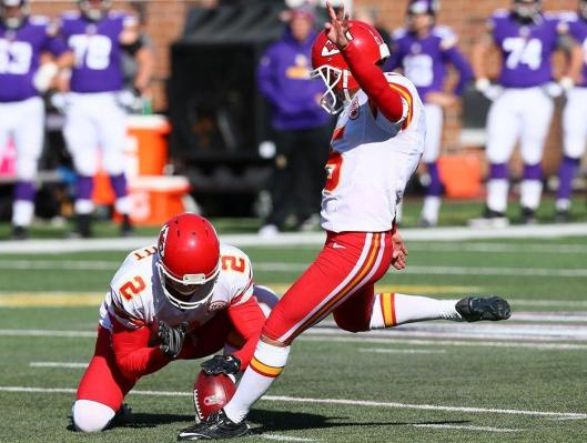 Cairo Santos kicked one field goal for the Chiefs Sunday. (Kansas City Chiefs photo)