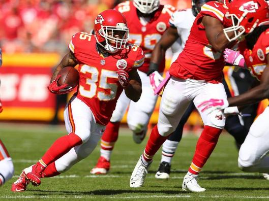 Charcandrick West replaced Jamaal Charles as Chiefs running back Sunday. (Kansas City Chiefs photo)